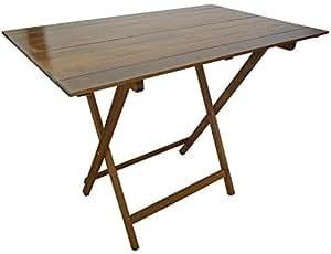 Tavolo tavolino pieghevole richiudibile legno noce marrone 100x60 cm ...