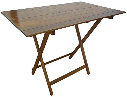Tavolo tavolino pieghevole richiudibile in legno noce marrone 77x60 cm campeggio casa pic nic