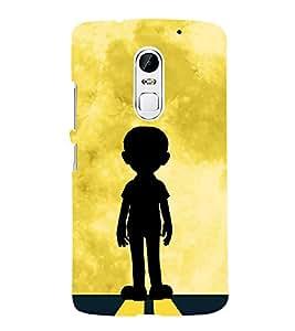 FUSON Little Boy Facing Sun 3D Hard Polycarbonate Designer Back Case Cover for Lenovo Vibe X3