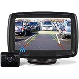 AUTO-VOX Caméra de Recul sans Fil,Caméra de Voiture Numérique avec Bonne Vision Nocturne, Caméra Etanche IP68, 4.3pouces Moni