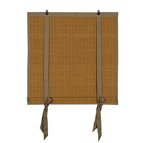 Rollos YXX Innen- / Außen-Rollo installieren, Bambus-Cordless Fenster/Türen, UV-Sonnencreme, Unterstützung der Anpassung (größe : 100x200cm)