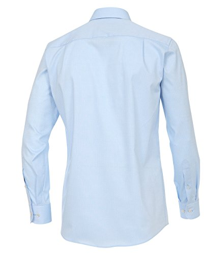 Casa Moda - Comfort Fit - Herren Business Hemd mit modischem Druck (372703900) Blau (101)