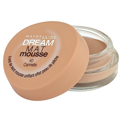 Gemey Maybelline Dream Matt Mousse, Fondotinta, 40 Cinnamon