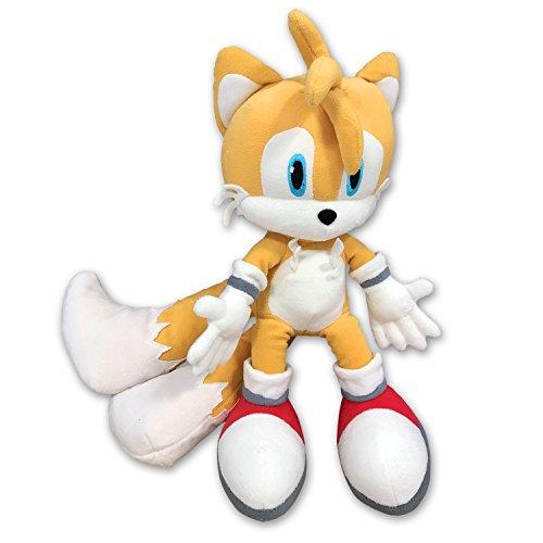 Und Sonic Tails (Plüsch TAILS Große 32cm von SONIC THE HEDGEHOG Original SEGA)