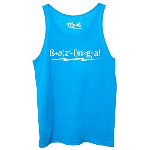 Canotta BAZINGA FORMULA - FILM by Mush Dress Your Style Blu Royal