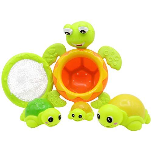 Bad Spielzeug Baby Badewanne Dusche Spielzeuge Kleinkind Sprinkler Baden Badezeit Kind Badezimmer Im Wasser spielen Wasserspray Größe Schildkröte Familie Netzfischen