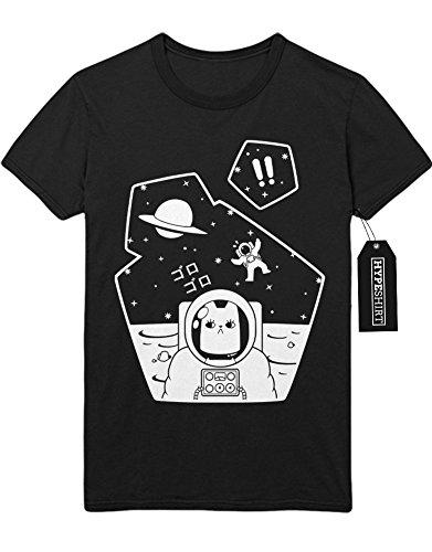 T-Shirt Grumpy Space Cat H549325 Schwarz
