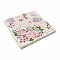 PENVEAT Floral Lily Pattern Printed Paper Napkins Disposable Napkin Portable Must Needde Wedding Party Table Decoration