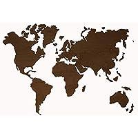MapaMundi de madera personalizable color y tamaño • 100x60cm | 160x100cm | 200x120 cm Mapa Decorativo para pared Envío Peninsular Gratis !