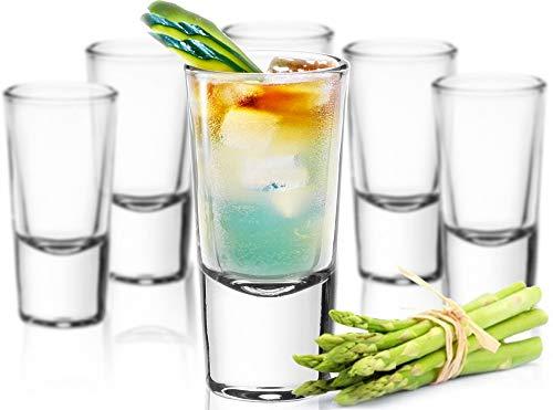 Sendez 24 Schnapsgläser Tequilagläser Gläser Schnapsglas Stamper Shots Wodkagläser Klar