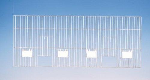 Nobby AF Grille de Cage en Zingué pour Oiseau 80 x 50 cm