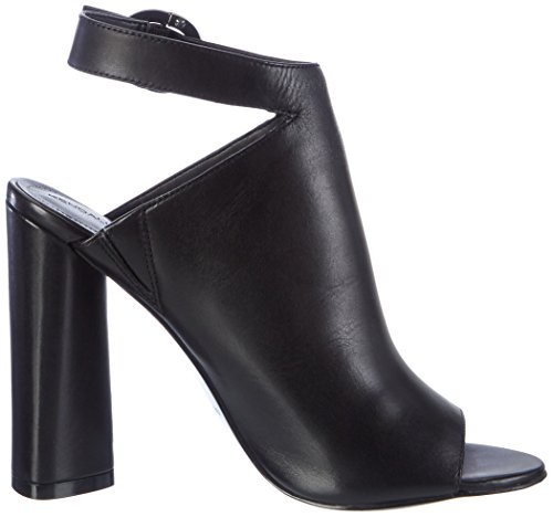 Kendall and Kylie Kkgigi, Sandales Compensées Femme Schwarz (Black Dress Calf Leather)