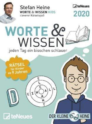 Worte & Wissen - Tagesabreißkalender 2020 - Stefan Heine - teNeues-Verlag - Aufstellkalender mit kniffeligen Rätseln - 11,8 cm x 15,9 cm