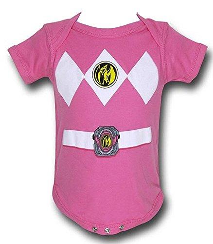 Power Rangers Pink Baby Ranger Kostüm Strampler Onesie -