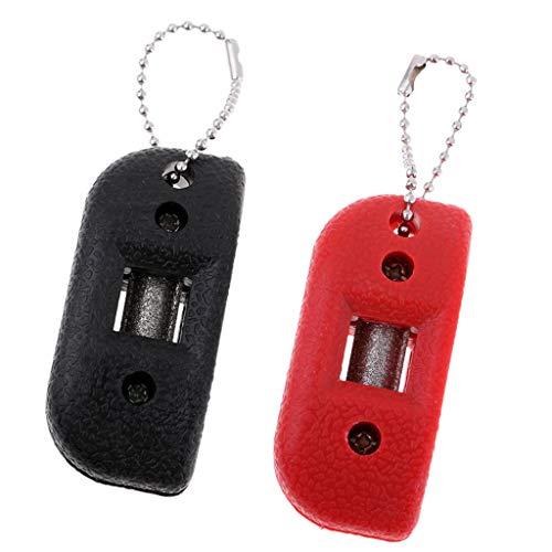 IPOTCH 2 Unidades 3mm Afilador de Patines Artístico de Diamante Ligero y Portátail para Cuchillas de Patines, Accesorios para Patinaje