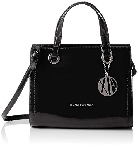 Armani Exchange Small Shopping Bag, Cabas femme, Noir...