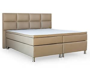 boxspringbett miami 180x200 cm kunstleder muddy. Black Bedroom Furniture Sets. Home Design Ideas