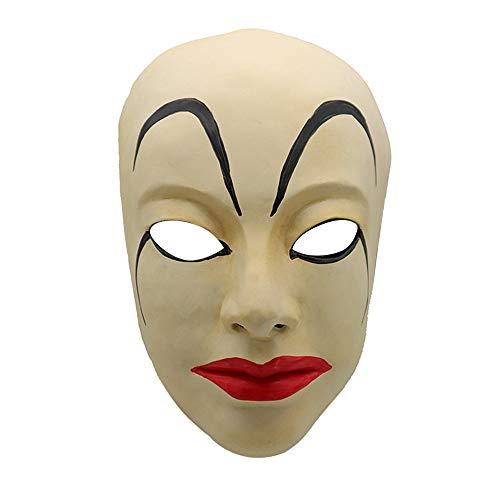 Kostüm Banshee - JJsmile Halloween gruselige Maske Halloween Parodie-Maske Banshee Kostüm Requisiten Gruselig Fasching Karneval Party Kostüm Cosplay Dekoration Accessoires Grimasse Maske Faltenmaske Exquisite erste