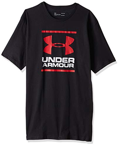 Under Armour UA GL Foundation Short Sleeve tee Camiseta, Hombre, Negro (Black/White/Red 001), L