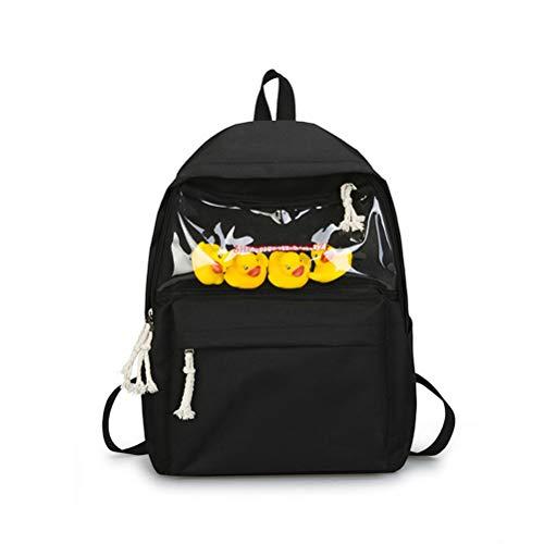 Campus Student Schüler Schultasche Einfache Casual Pendler Rucksack Canvas Bag -