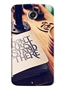 Blue Throat Don'T Just Stand There Printed Designer Back Cover/ Case For LG Google Nexus 6