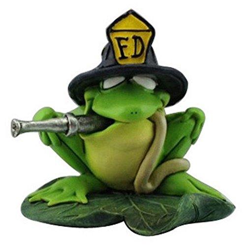 Hi-Line Gift Ltd. Warren Stratford Ribbitz Figur Frosch Feuerwehrmann (Line-frosch)