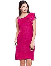 Pink ruffle sleeve single strap velvet dress