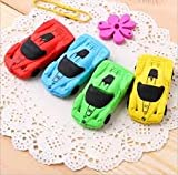#4: Car shaped 3 D eraser for sports cars fan (Pack of 5 assorted eraser)