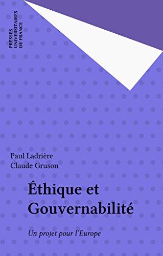 Éthique et Gouvernabilité: Un projet pour l'Europe
