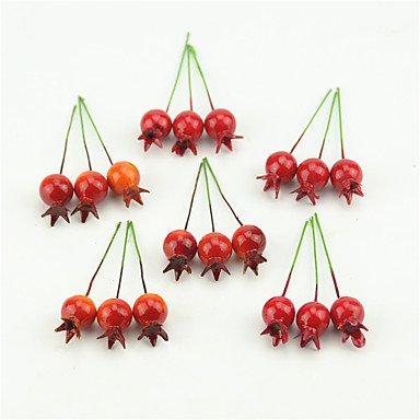 20 Pièces En Plastique Artificielle Mini Légumes Fruits De Grenade Cerise Petit Bouquet De Fleurs De Mariage D'Étamines