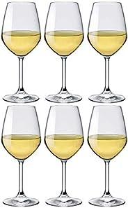 Bormioli Rocco 1318945 Divino Calice Vino, Vetro, 44.5 cl, Bianco, Pacco da 6