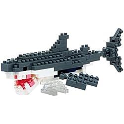 Nanoblock - Puzzle 3D de Bloques, diseño de tiburón