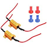 Decodificador de resistencia de carga LED para automóvil, 25W 25Ω, 2 piezas