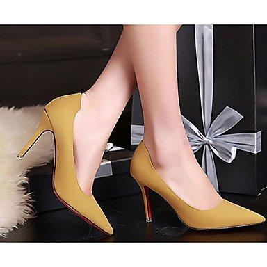 Moda Donna Sandali Sexy donna caduta tacchi Comfort Felpa casual Stiletto Heel altri nero / giallo / il verde / rosa / grigio altri gray