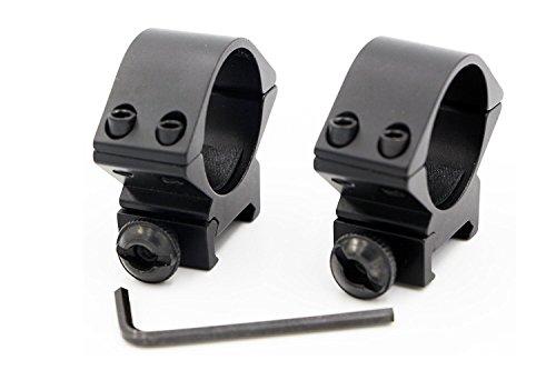 30mm Niedriges Profil Taktische Zielfernrohr Ring doppel Nagel Picatinny/Weaver Schiene Schwalbenschwanzmontage breite 20mm- 2er Set -