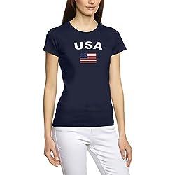 Coole-Fun-T-Shirts EM 2016Football Toutes Les Nations T-Shirt Femme s M L XL XXL Tous Les participants Pays De La Em 2016 USA L