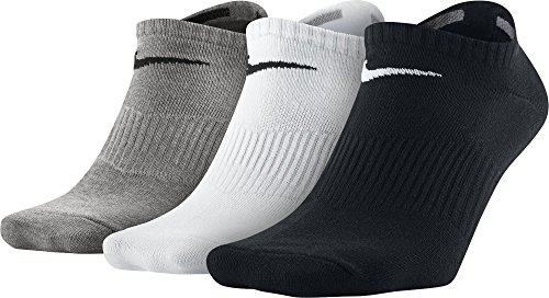 NIKE Socks 3 Pairs Lightweight No Show grey Grey Heather/Black/White Size: 42 - 46 (L)
