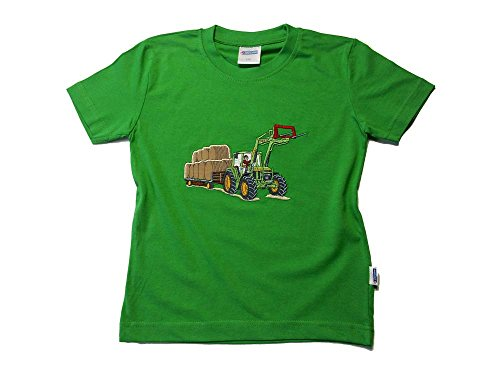 Zintgraf OEKO-TEX® T-Shirt Traktor Rundballen T22 (104, Grün)