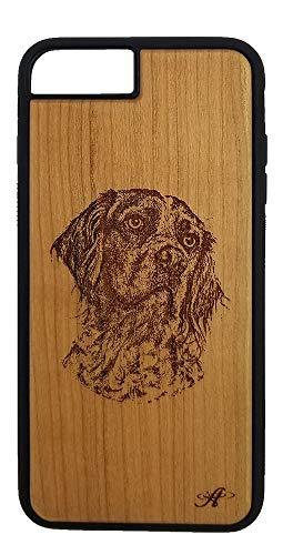 Schutzhülle für iPhone 6/7 / 8 Plus, mit Lasergravur, Kirschholzmotiv -
