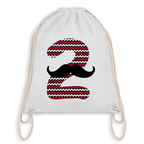 Geburtstag Kind - 2. Geburtstag Moustache Junge - Turnbeutel I Gym Bag Weiß