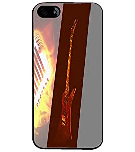 PrintDhaba Guitar D-4440 Back Case Cover for APPLE IPHONE 4S (Multi-Coloured)
