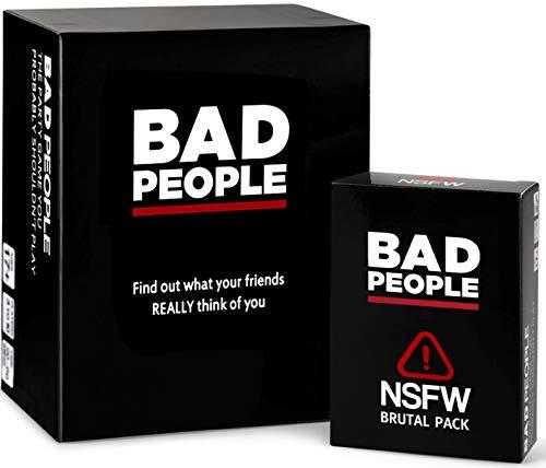 BAD PEOPLE Komplettes Set (Das Party-Spiel, das Sie wahrscheinlich Nicht Spielen sollten, und das brutale Erweiterungspaket von NSFW)