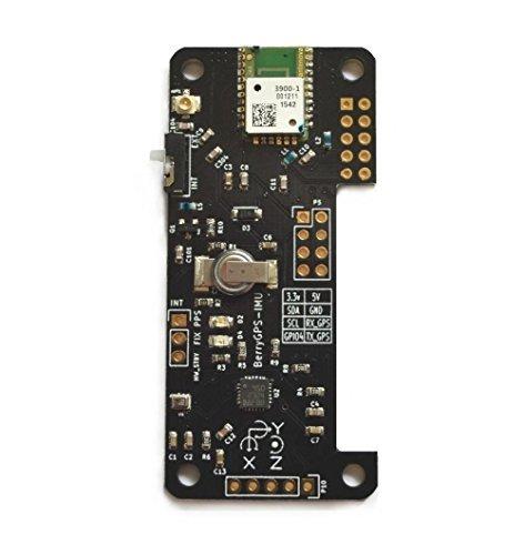 BerryGPS-IMUv3 GPS und 10DOF für Raspberry Pi, Beschleunigungsmesser, Gyroskop, Magnetometer und Barometrischer/Höhensensor Nmea-anzeige