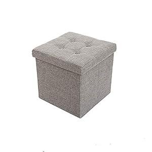 malin-system – Sitzhocker (38x38x38) – Fußbank mit Stauraum – Faltbarer Sitzwürfel mit abnehmbaren Deckel – Beinauflage