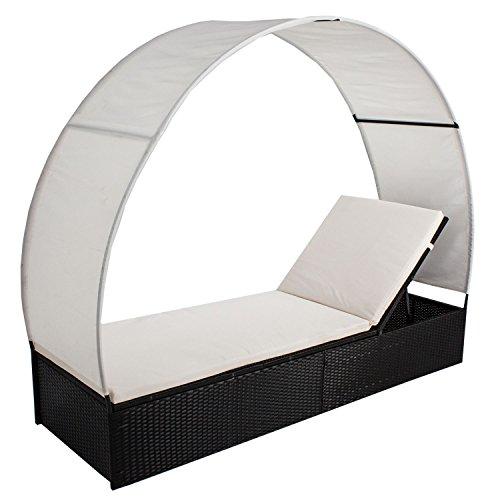 ArtLife Polyrattan Gartenmöbel Sonnenliege Lounge Ibiza – Größenwahl