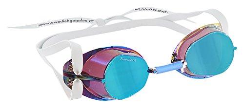 Malmsten Swedish Goggles Metallic Schwimmbrille, Oily, Nicht zutreffend
