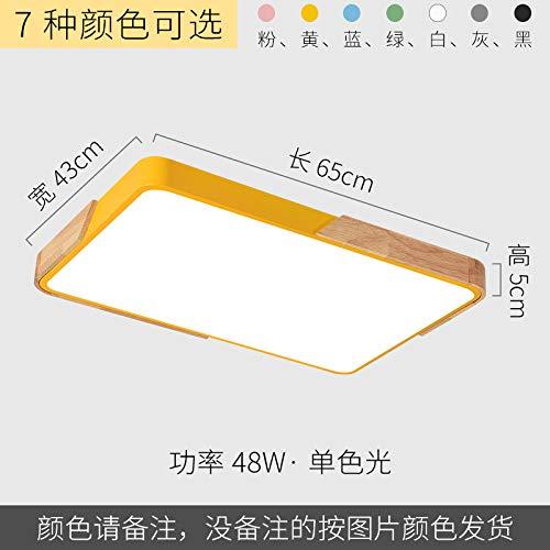 Led ultradünne Arbeitszimmer Lampe Schmiedeeisen Persönlichkeit Quadrat Lampe 65 * 43cm weißes Licht weiß