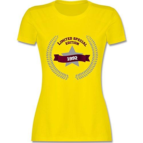 Geburtstag - 1992 Limited Special Edition - tailliertes Premium T-Shirt mit Rundhalsausschnitt für Damen Lemon Gelb