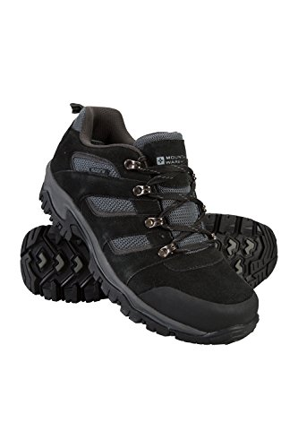 Mountain Warehouse Voyage Wasserfeste Schuhe für Herren - Leicht, schnelltrocknend, Wanderstiefel, Eva-Zwischensohle, Netzstoff, Laufschuhe, Laufsohle Gummi - Für Reisen Schwarz 43