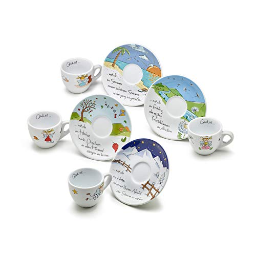 Heaven and Angels Espressotassen Set dickwandig; 4er-Set; Art Collection Design